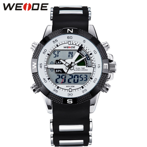 Weide analong black silicon watch quartz sport digital Men watches waterproof automatic self-wind luxury electronic wrist clock