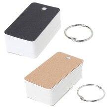 Простой DIY указатель картонная обложка пустая бумажная карта блокнот Закладка переплет Кольца