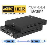 Extensor 2020 4K 60Hz HDMI 2,0 50m compatible con 18Gbps y extensor de bucle HDMI con IR 4K HDMI a receptor extensor RJ45