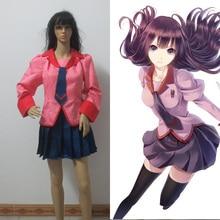 Monogatari Nisemonogatari Bakemonogatari Hitagi Senjougahara Cosplay Costume