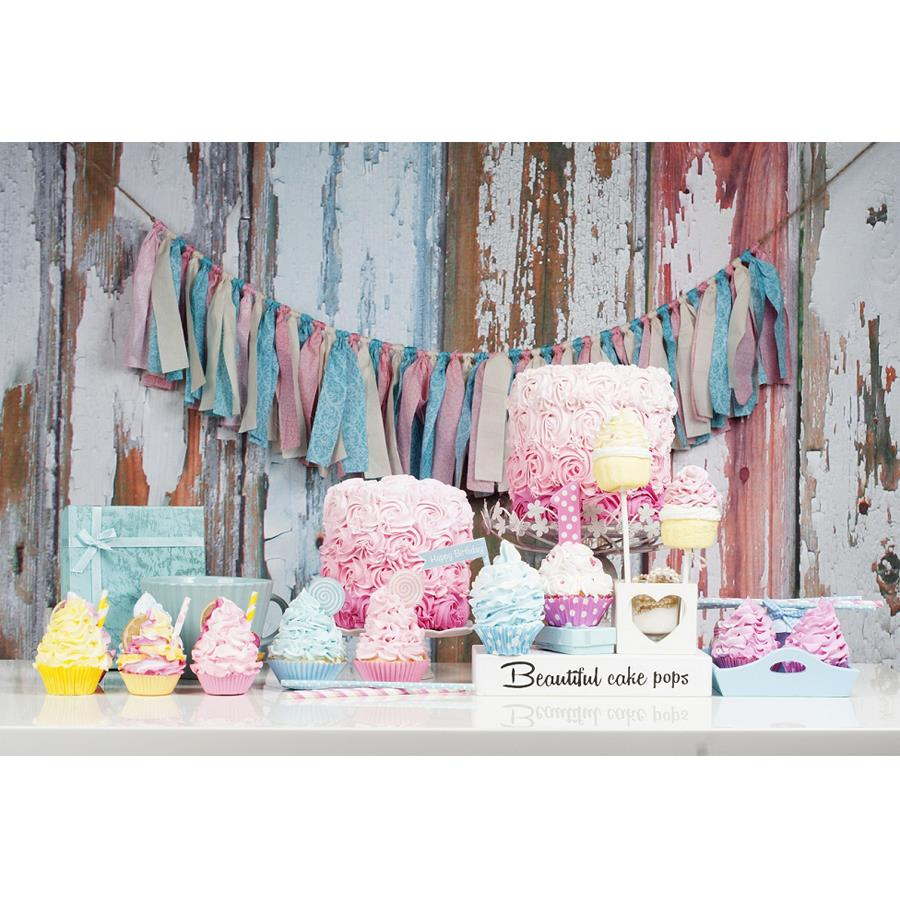 Allenjoy free shipping 5ft*7ft(150cm*215cm) photography backdrops cake colorful cute Birthday photography background
