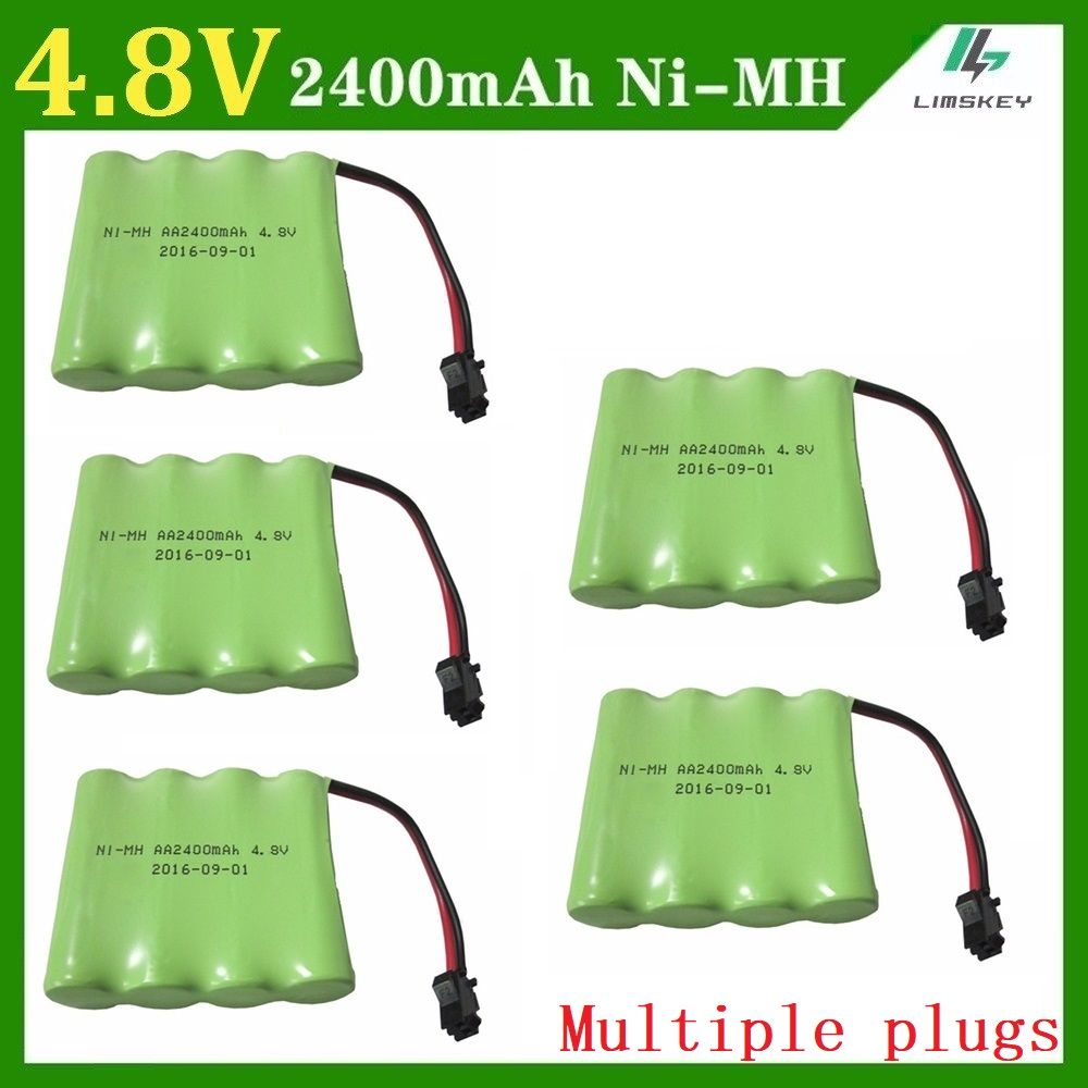 4.8V 2400mAh Ni-MH Remote Control toys/lighting lighting security facilities AA battery RC TOYS battery group wholesale 5pcs/lot