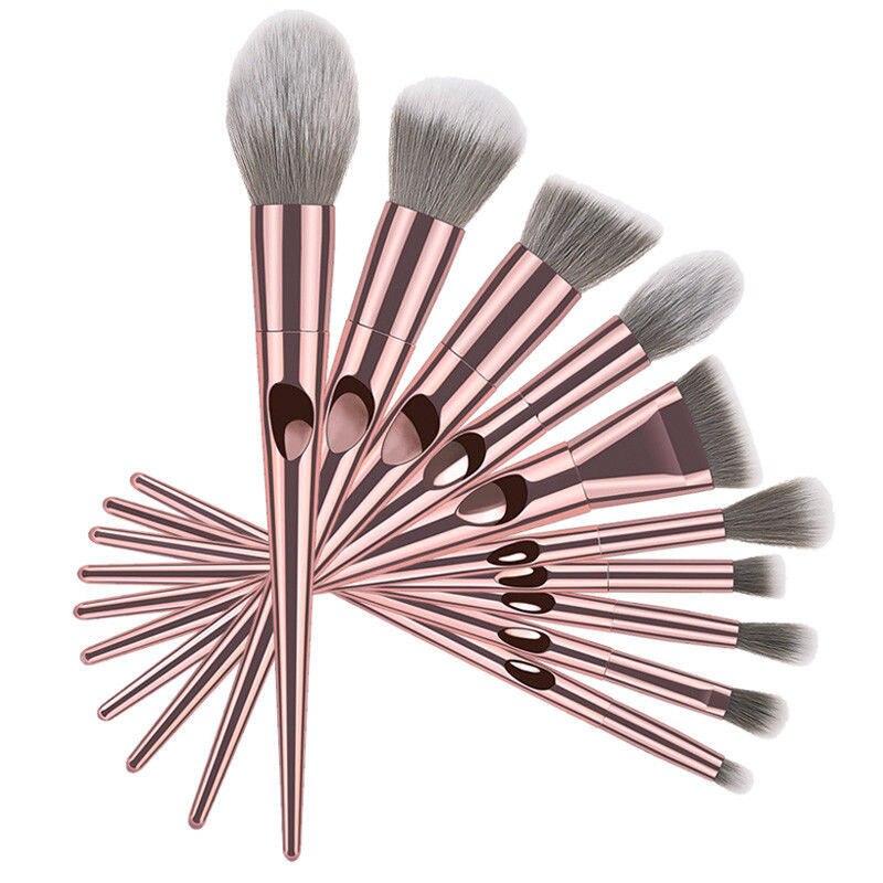 Moda 10 pçs rosa unicórnio escovas fundação