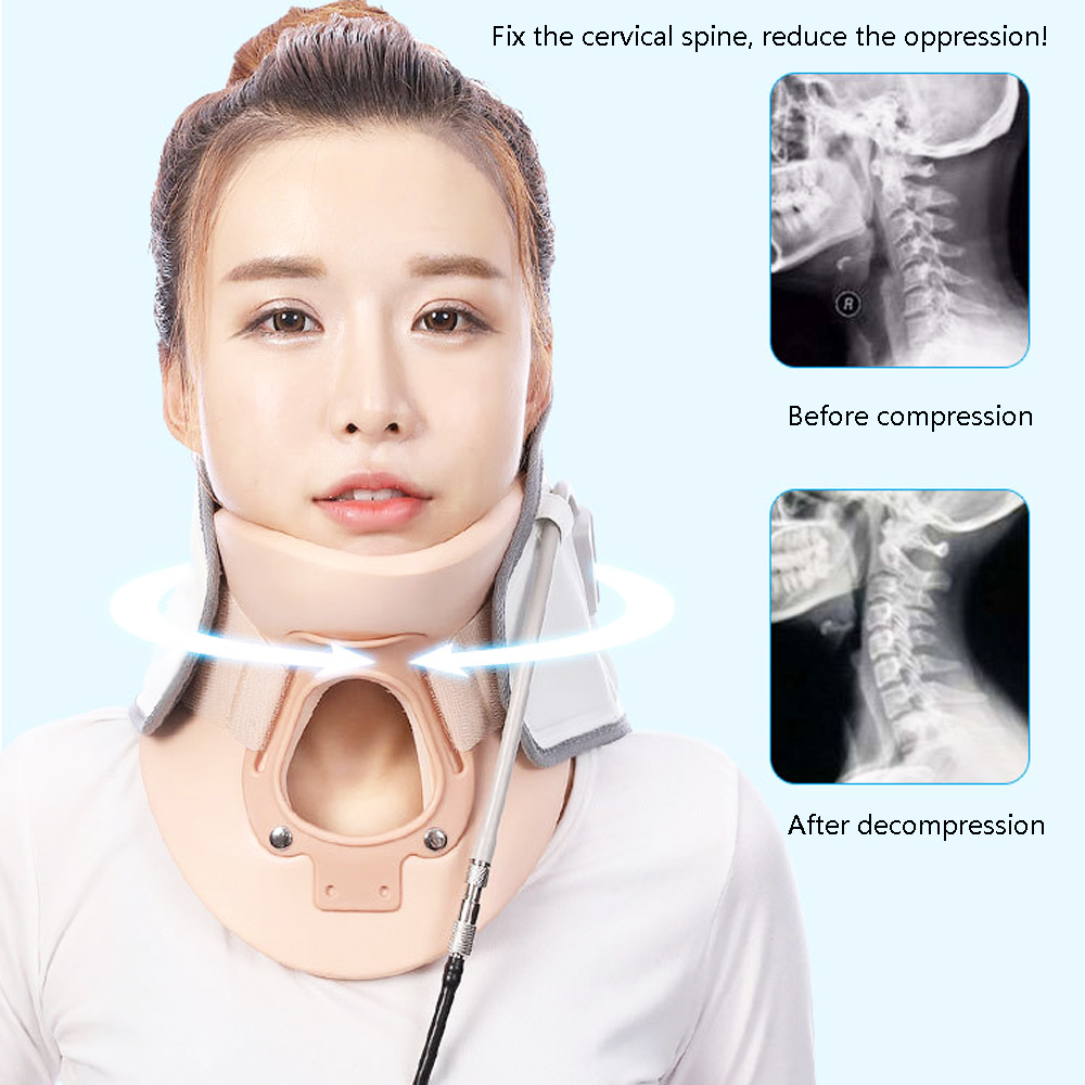 New Brand Household Cervical Traction Device Neck Massage Cervical spondylosis Rehabilitation Neck Pain ease new neck cervical traction device inflatable collar head back shoulder neck pain headache health care massage device
