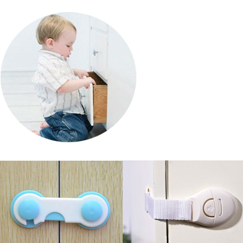 Cabinet Door Drawers Refrigerator Toilet Safety Plastic/Cloth Lock For Child Kid Baby Safety Best Deal safety 10 pcs cabinet drawer cupboard refrigerator toilet door closet plastic lock baby safety lockcare child safety atrq0140