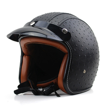 Motorcycle Helmet Retro Motocross Motos Helmets Capacete  vintage open face helmet  MOTO Racing Helmets vespa three color