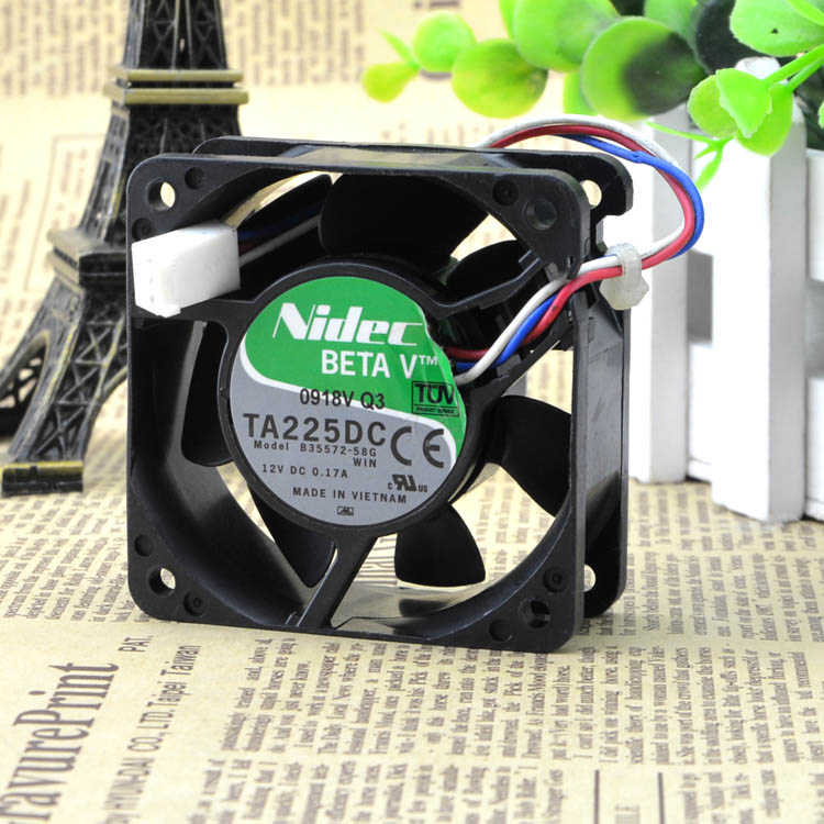 Free Delivery. 6025 12 v 0.17 A 6 cm mute power supply chassis fan B35572-58 g/server
