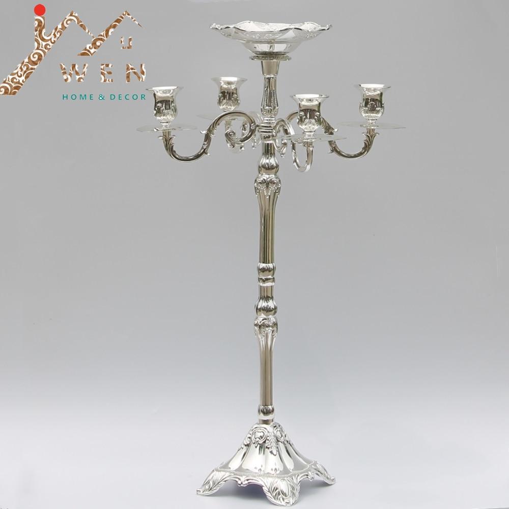 Kedatangan baru menjual terbaik 63cm lilin 5-lengan dengan mangkuk - Dekorasi rumah