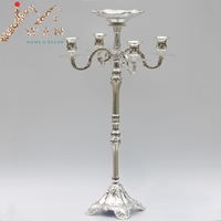 New arrival selling best 63cm 5-arms candelabra with flower bowl in the middle center, weddings or party use candle holder