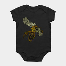 Baby Onesie Baby Bodysuits kid t shirt Funny white Black tee Bee by Herolux - Tattoo Retro Eco Rock N Roll Save The Gas Mask(China)