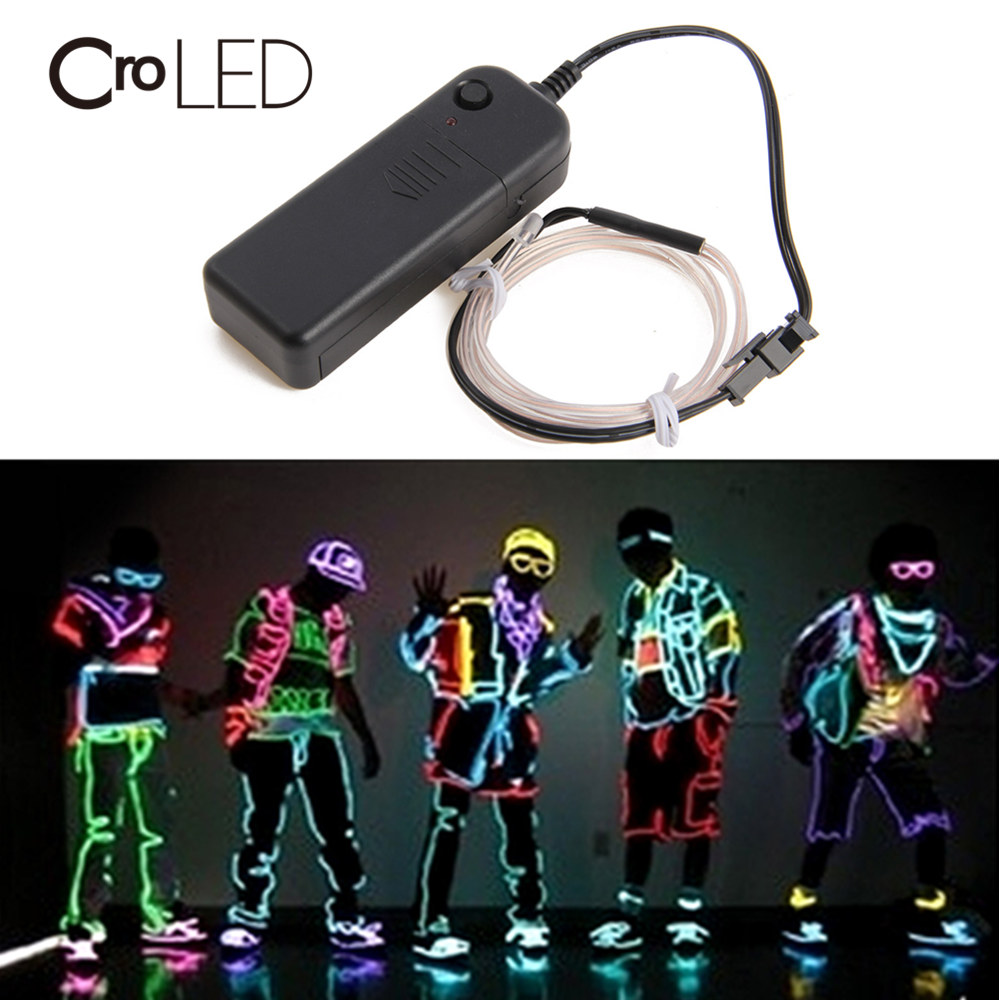 Croled 1m 3m 5m Led Light Band String Strip With Battery Case New Exotic Lights For Car Decoration Parties Camping Bar Decor Non-Ironing Lights & Lighting