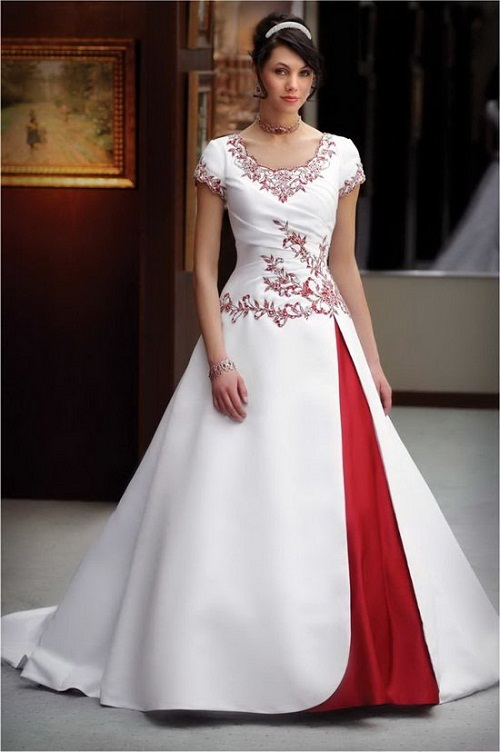 Popular Red and White Plus Size Wedding Dresses-Buy Cheap Red and ...