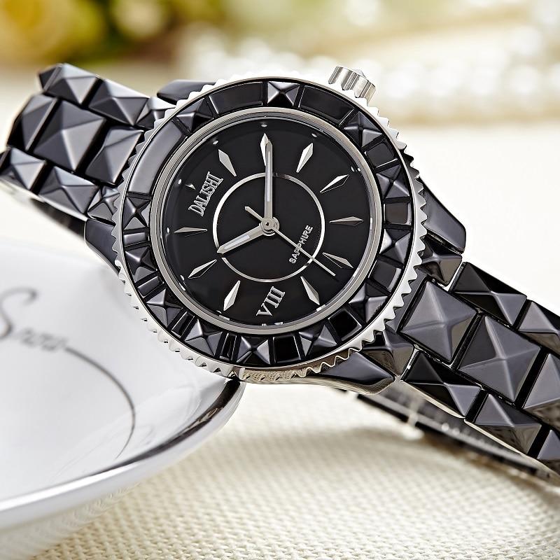 DALISHI Top Brand Men Watches Quartz Pearl Ceramic Male Watch Fashion Big Dial Business Dress Montre Homme Relogio Feminino