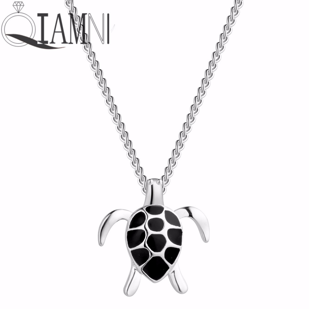 QIAMNI Lovely Turtle Animal Tortoise Chain Necklaces