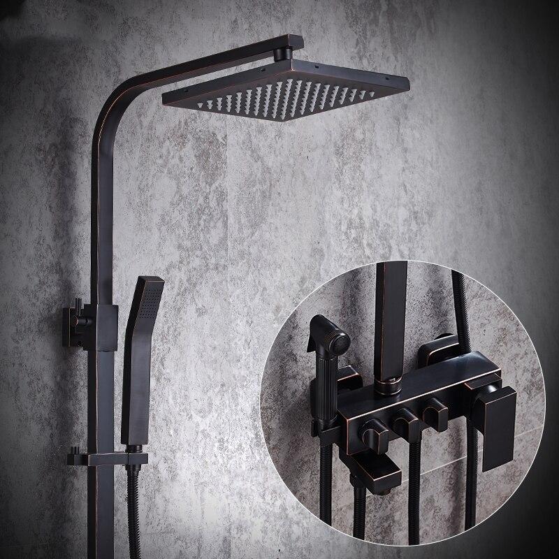 Badezimmer Dusche Wasserhahn Set Badewanne Armaturen Dusche Mischbatterie Bad Dusche Wasserhähne Wasserfall Dusche Kopf Wand Halterung Niederschläge Tap - 2