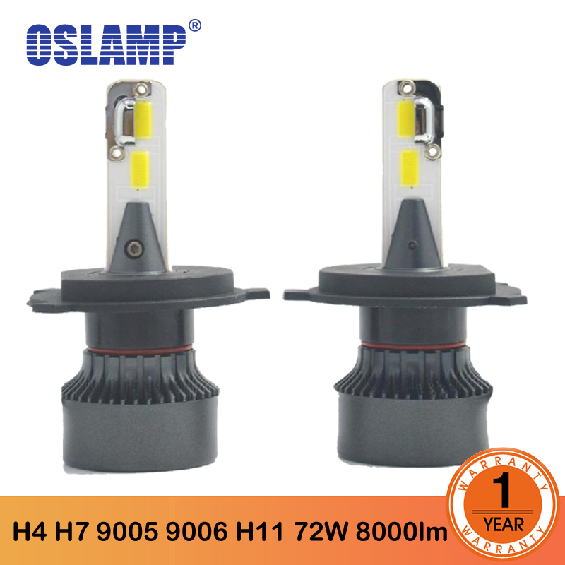 Oslamp M3 <font><b>LED</b></font> H4 H7 9005 9006 <font><b>H11</b></font> Car <font><b>Led</b></font> <font><b>Headlight</b></font> <font><b>Bulbs</b></font> 72W 8000LM COB Chips <font><b>LED</b></font> Auto Headlamp <font><b>Bulb</b></font> Car Light 12v 24 v image