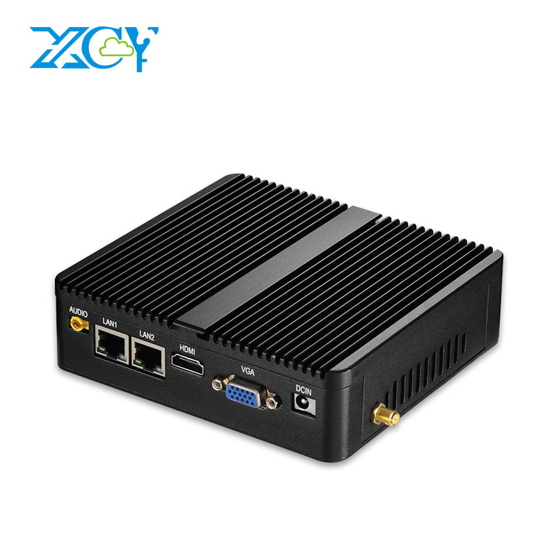 XCY X30 Sans Ventilateur mini pc Intel Pentium 3805U Windows Linux 2*1000 Mbps Ethernet LAN 2 * RS232 Ports Série HDMI VGA 4 * USB 300 M WiFi