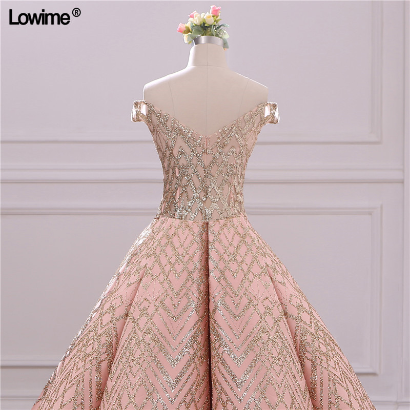 Image 5 - Special Sequin Fabric Evening Dresses A Line Off Shoulder Backless Evening Red Carpet Gowns Princess Party Dresses CustomEvening Dresses   -