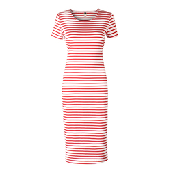 Casual long dress woman striped body dresses short sleeve womens fashion dresses splits beach dress clothes.jpg 250x250