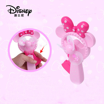 Disney outdoor fun sports rocket Manual Fan Mini Portable Handheld Hand Press Small Child Fan toys for children