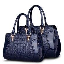 Lackleder Krokoprägung Tote Taschen Top Griff Handtaschen Für Frauen Mode-design luxuriöse shopper Weibliche umhängetaschen