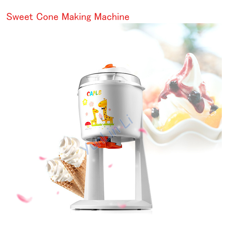 1.2L  Home Automatic Ice Cream Machine  DIY Fruit Ice Cream Maker Ice Cream Sweet Cone Making Machine ICE1580 square pan rolled fried ice cream making machine snack machinery