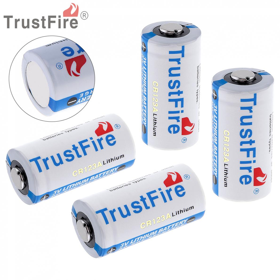 все цены на Trustfire 4 Pieces High Quality CR123A 16340 Lithium Li-ion Batteries Trustfire 3V Battery 1400mAh