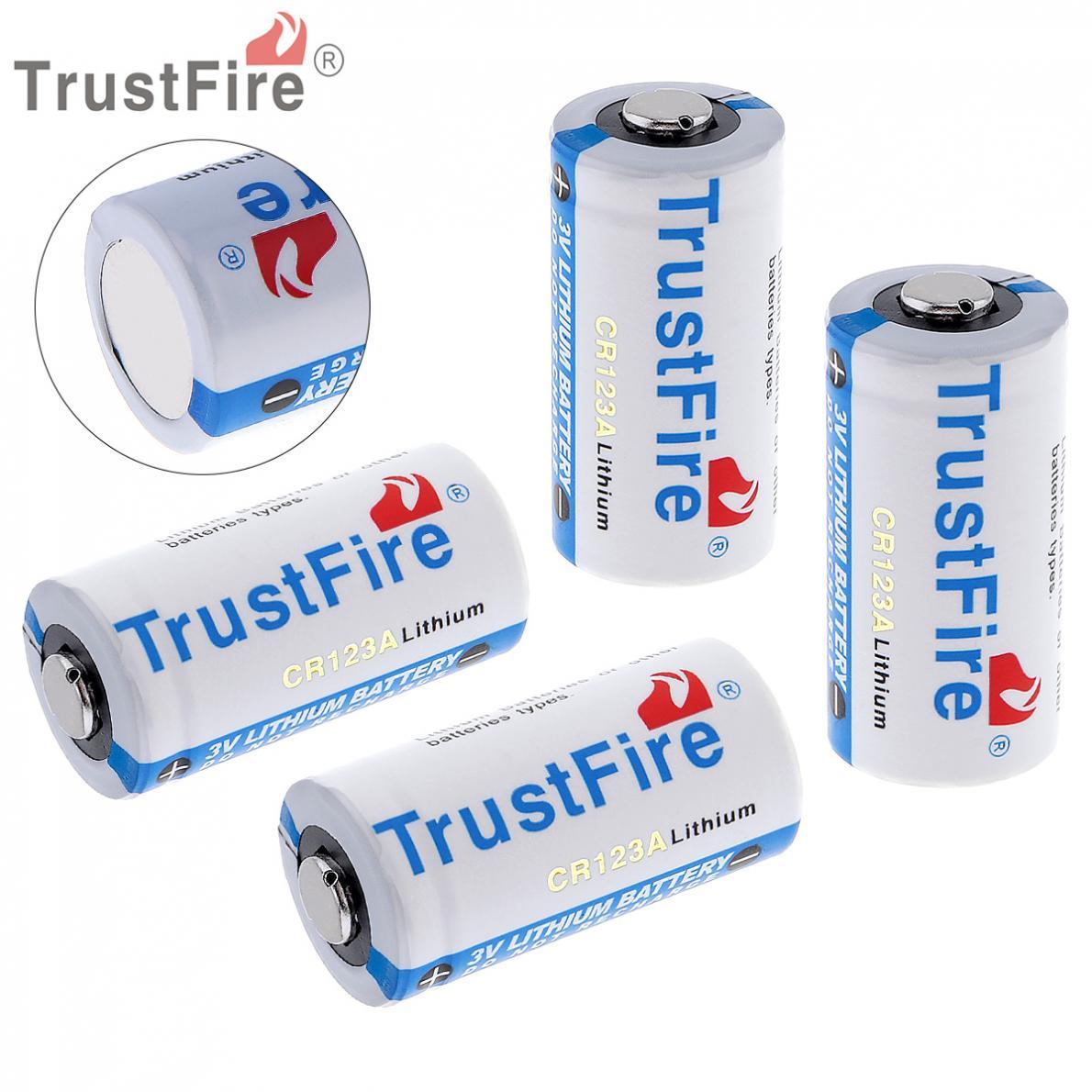 Trustfire 4pcs High Quality CR123A 16340 Lithium Li-ion Batteries Trustfire 3V Battery 1400mAh lc 16340 3 7v 1000mah li ion batteries yellow 2 battery pack