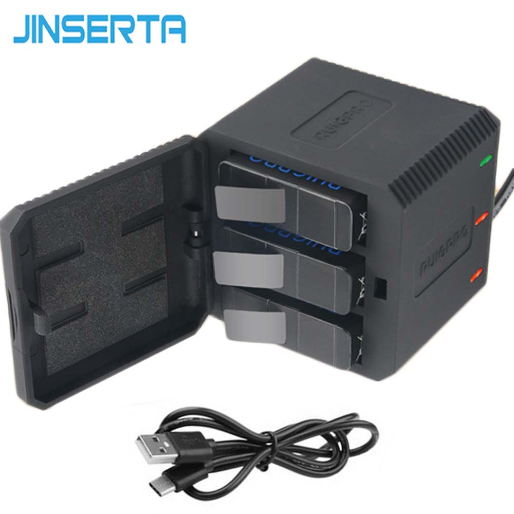 E3633-3 Slot Battery Charger for Gopro6-9