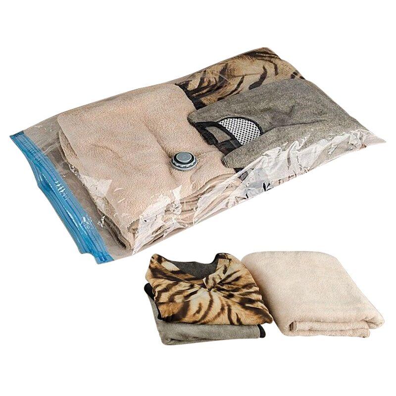 SAFEBET Large Transparent Vacuum Compressed Bag For Clothes Quilt Clean PVC Foldable Garment Storage Bag Organizer Sealed Pouch