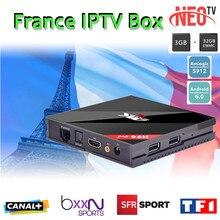 Français IPTV H96 Pro + Belgique Pays-Bas Luxembourg Europe IPTV Arabe IPTV S912 Octa base 3G RAM 32G GB ROM Android 7.1 TV boîte