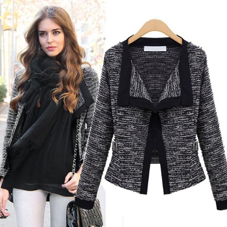 New Europe 2016 Autumn Winter Womens Temperament Woolen Jackets Coats Female Casual Clothing Fashion Women Slim Jackets Coats