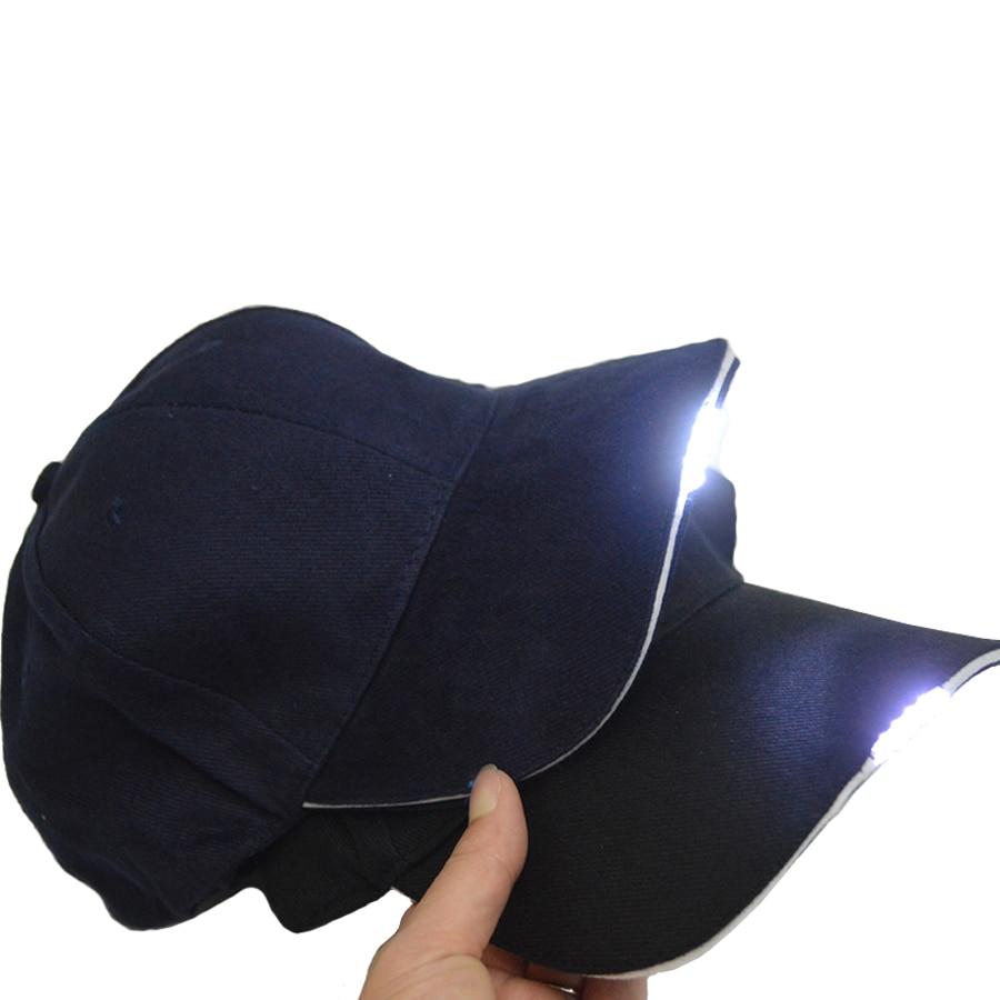 Besplatna dostava Crna LED Svjetiljka Hat Bike Biciklizam Caps Noćno - Ribarstvo - Foto 4