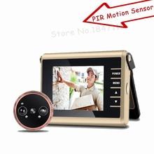 HD красочный экран C автоматической видеозаписью умный дверной глазок камера PIR датчик движения смарт-глазок дверной звонок видео дверная камера