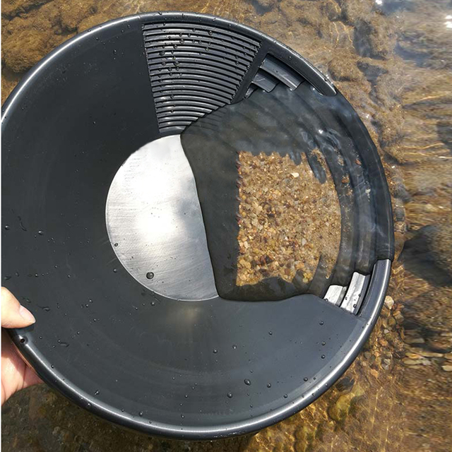 1pc New Plastic Gold Pan Basin Nugget Mining Dredging Prospecting River Panning Hand Tool