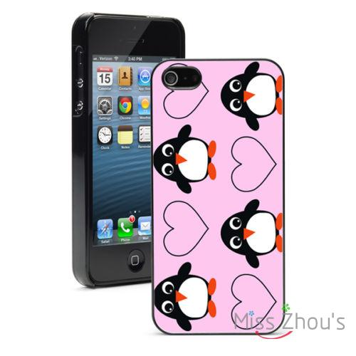 Penguins Hearts protector back skins mobile cellphone cases for Samsung Galaxy mini S3/4/5/6/7 edge plus Note2/3/4/5
