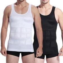 Férfi kényelem Karcsúsító fehérnemű Férfi Fűző test Karcsúsító Hasműtéttel Dzseki Futás Vest Belly Derék öves póló Shaper Vest