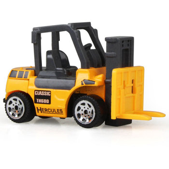 1pc Kids Toy Gift Engineering Vehicle Bulldozer Tractor Construction Car Truck Model knl hobby j deere model a tractor agricultural vehicle safety model gift act ertl 1 16