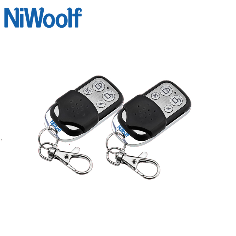 2018 New Selling Free Shipping Wireless Remote Controller 433MHz for GSM Alarm System Metal Design free shipping 3 pieces lot wireless remote control controller keyfobs keychain 433mhz just for our alarm system