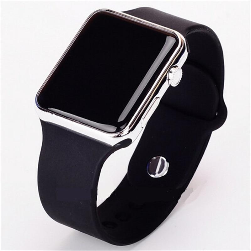 9b31e8ed3bd1 Mujeres Hombres Unisex reloj de pulsera Casual relojes para dama Digital LED  deporte reloj de silicona Saats caliente Orologio Uomo Zegarek Damski