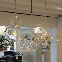 Modern Glass Pendant Lamps Stair Lights Loft Coffee Bedroom Lighting lustres e pendentes para sala de jantar LED Pendant Lights
