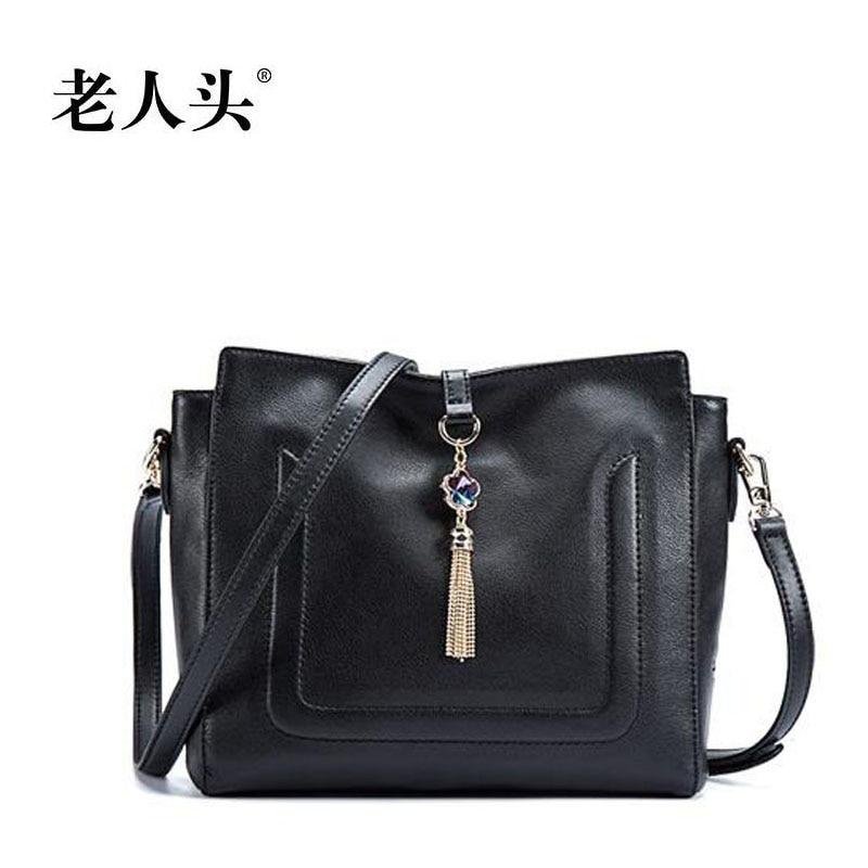 ФОТО LAORENTOU high quality luxury fashion brand 2016 new shoulder diagonal ladies leather bag counter genuine, well-known of women