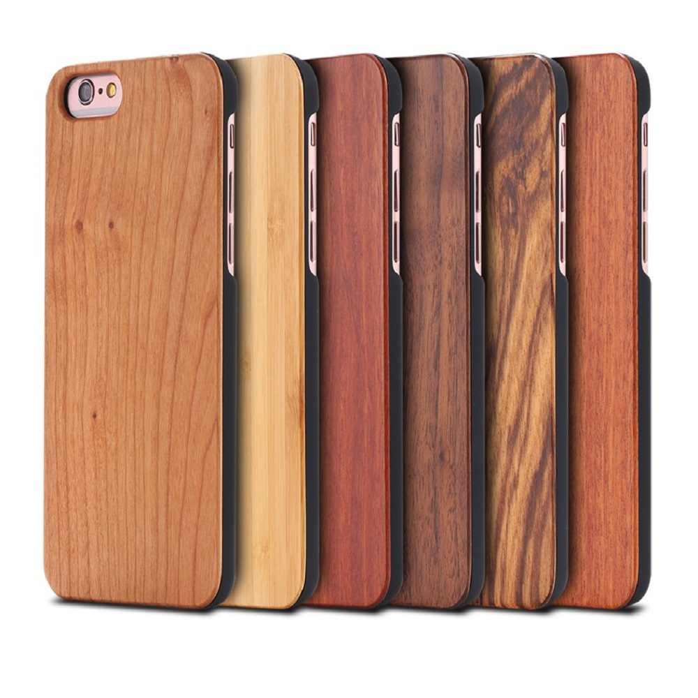الخشب الحقيقي حقيبة لهاتف أي فون 6 6S 7 5s 5 SE الخشب الطبيعي الصلب الغطاء الخلفي كلاسيك فينتا دائم خزائن هاتف آيفون 7 6S 6 Plus