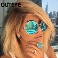 OUTEYE Fashion Sunglasses For Women Glasses Round Sun Glasses Male Mirror Sunglasses Men Glasses Female Vintage Gold Glasses