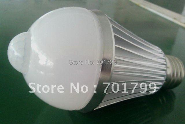 4W LED Human body induction bulb,60*125mm,8pcs 5630 smd led