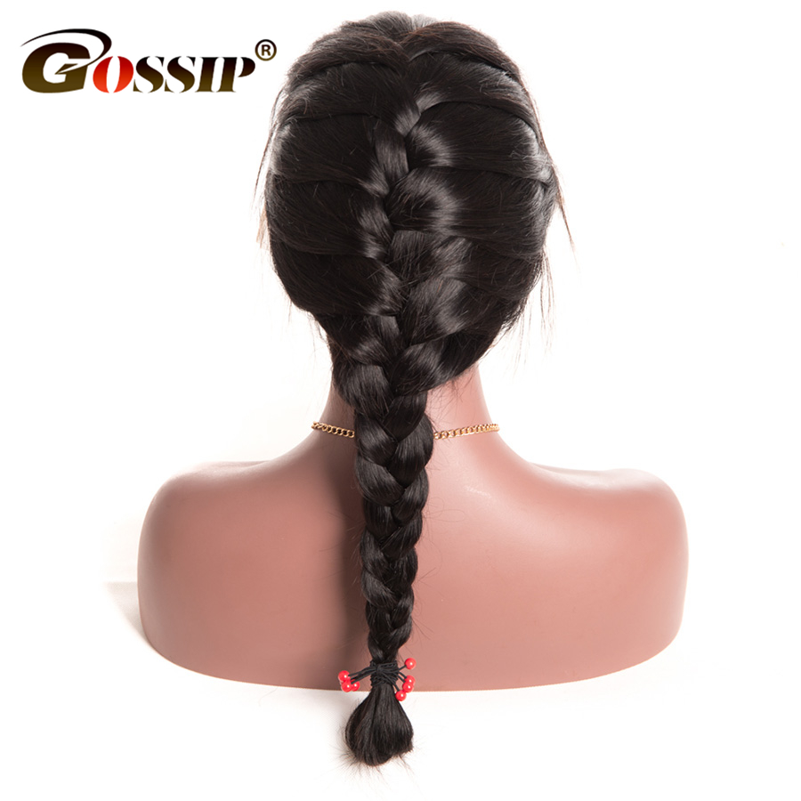 Gossip Pre Plucked 360 Lace Frontal Wig 150 Density Brazilian Straight Hair Wigs For Black Women Non Remy 360 Wig With Baby Hair