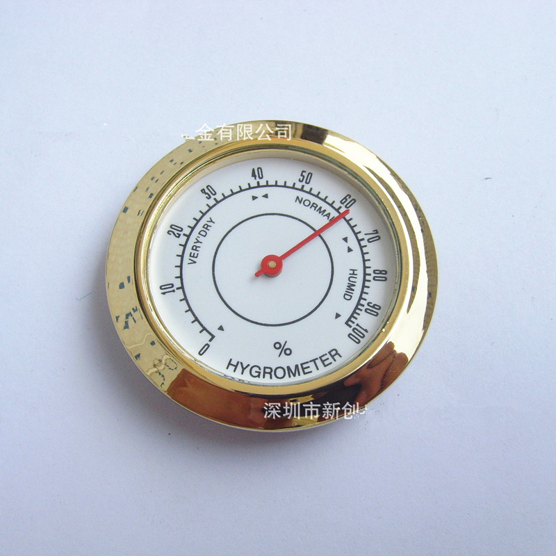 50PCS Cigar box thermometer gift thermometer pointer type hygrometer