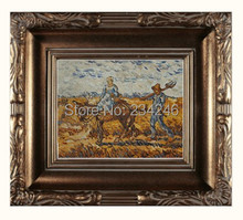 Peasant Couple Going to Work by Vincent Van Gogh Handpainted