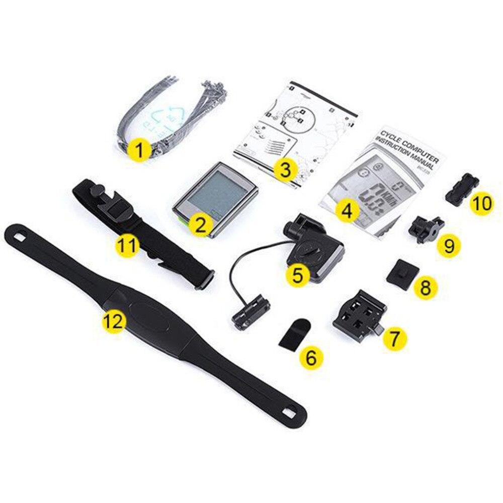 3 in 1 LCD Retroilluminato Impermeabile Senza Fili Del Calcolatore Della Bicicletta Set Bike Tachimetro Ciclismo + Cadence Heart Rate Monitor