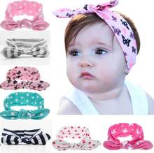 f296b6654a2 100pcs unicorn horn Leopard wave dot Turban Twist bow Head wrap Twisted Knot  Soft Rabbit ears Headband Headwrap hair band FD6521